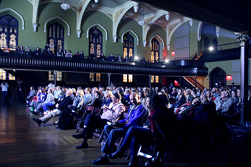 TEDxBuffalo 2016, from the front-corner of the stage