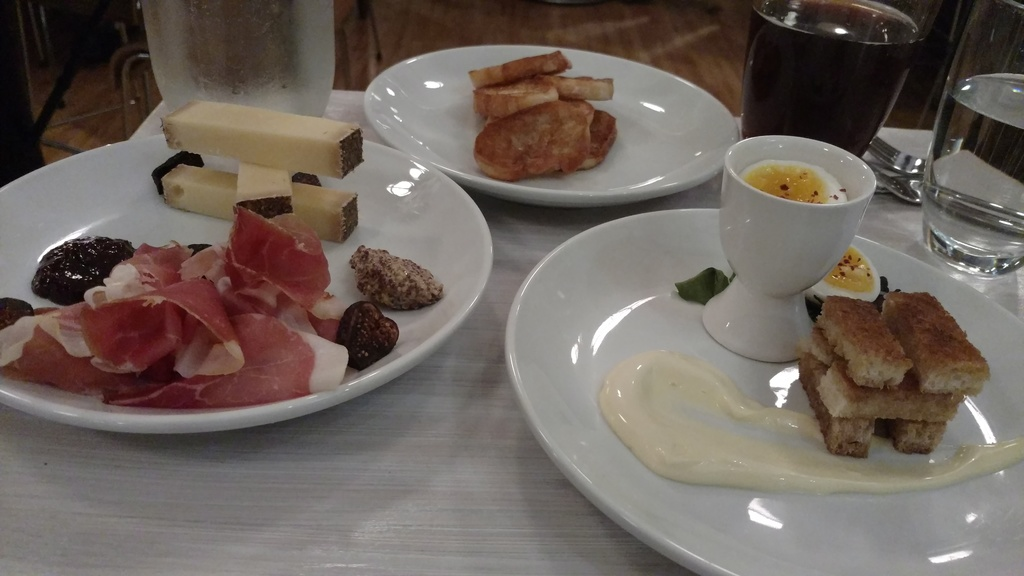 Two cheeses and one meat at Lait Cru Brasserie