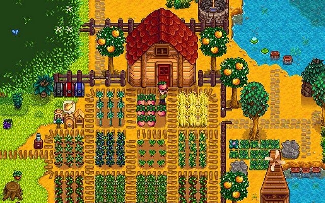 Image of Stardew Valley farm, not the author's