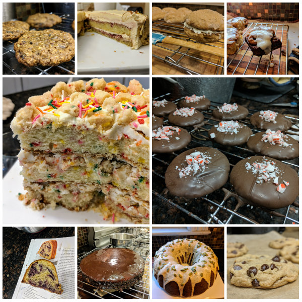 Collage of the most notable stuff I baked in 2018