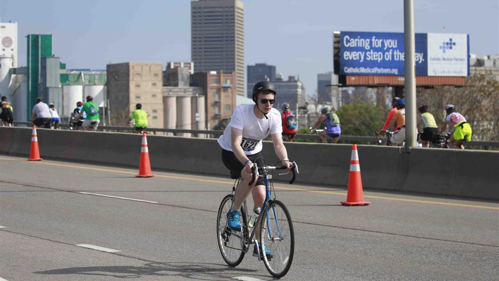 Author during the Skyride in Buffalo NY