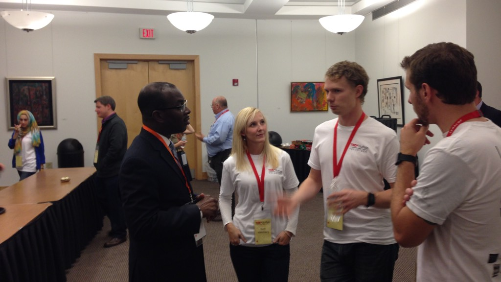 TEDxBuffalo volunteers meeting with Mayor Byron Brown