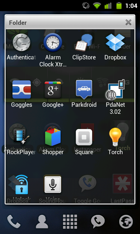 Some favorite Android apps, folder-ized