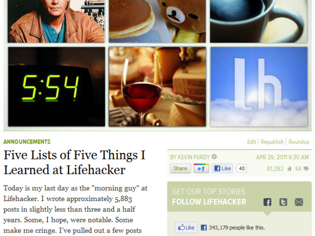 Image from my last (official) Lifehacker post