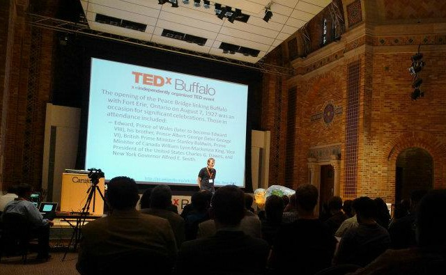 Me on stage at TEDxBuffalo 2011